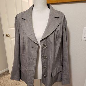 Plus Women's Lane Bryant Grey Jacket